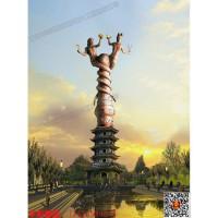 重庆华阳雕塑/山西大型城市雕塑/伏羲女娲雕塑/甘肃景观雕塑