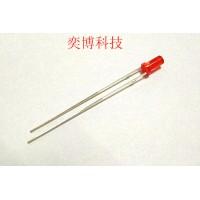 香港奕博LED灯珠  发光二极管  3mm高平头有边红发红