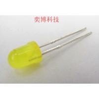 香港奕博LED灯珠  发光二极管  4mm圆头有边黄发黄雾状