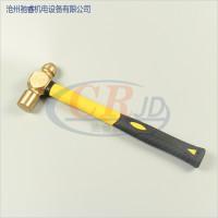 厂家直销防滑木柄式圆头锤