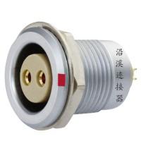 沿溪连接器2芯母插座 推拉自锁金属航空件电子接插件