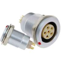 沿溪连接器6芯母座航空接插件仪器信号传输采集器工业设备连接口