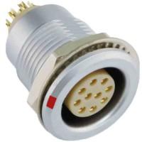 沿溪连接器10芯母座航空接插件信号传输采集器工业设备连接口