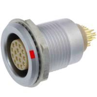 沿溪连接器16芯母座航空接插件信号传输采集器工业设备连接口